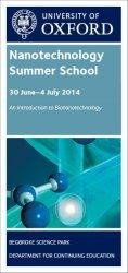 Nanotechnology Summer School flyer