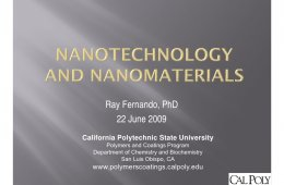 Nano Materials PowerPoint presentation